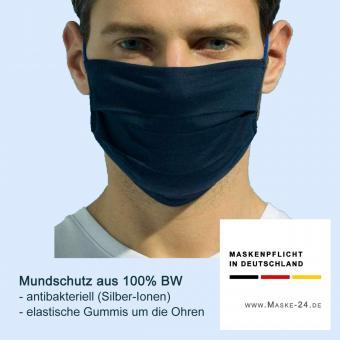 AUSVERKAUFT: 10x Mundschutz S09 | Baumwolle - antibakteriell mit Silber-Ionen | Gummi ums Ohr